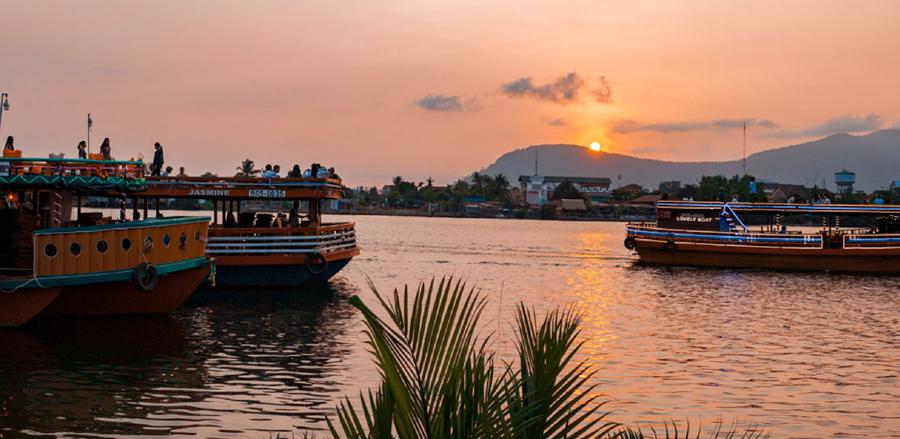 River cruises at Amber Kampot