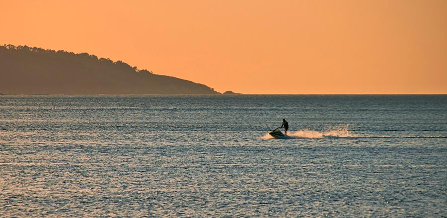 Jet ski on the Kampot River