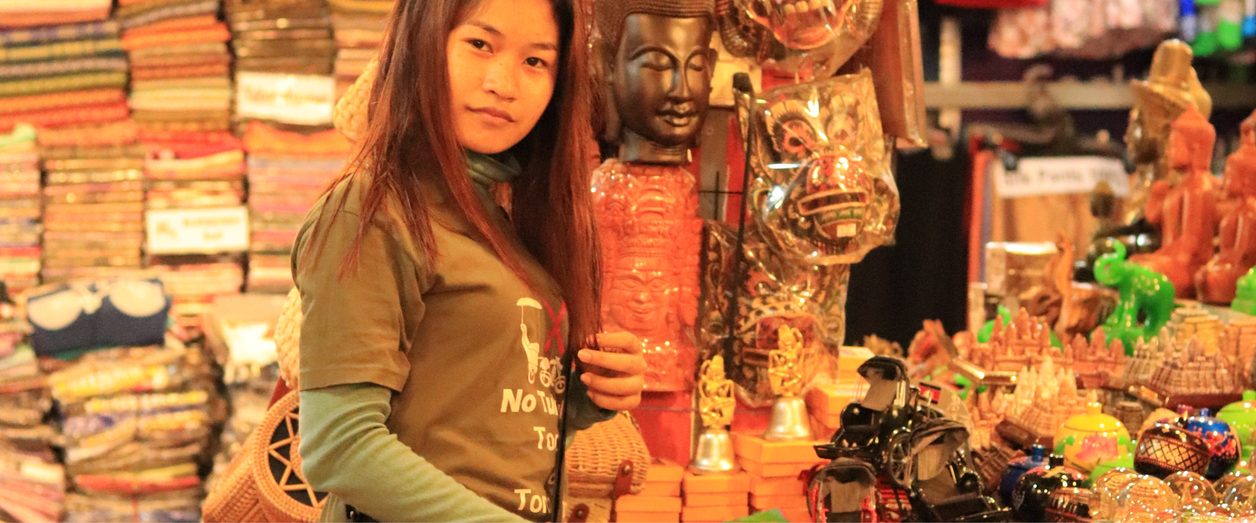 Shopping in Kampot, Cambodia