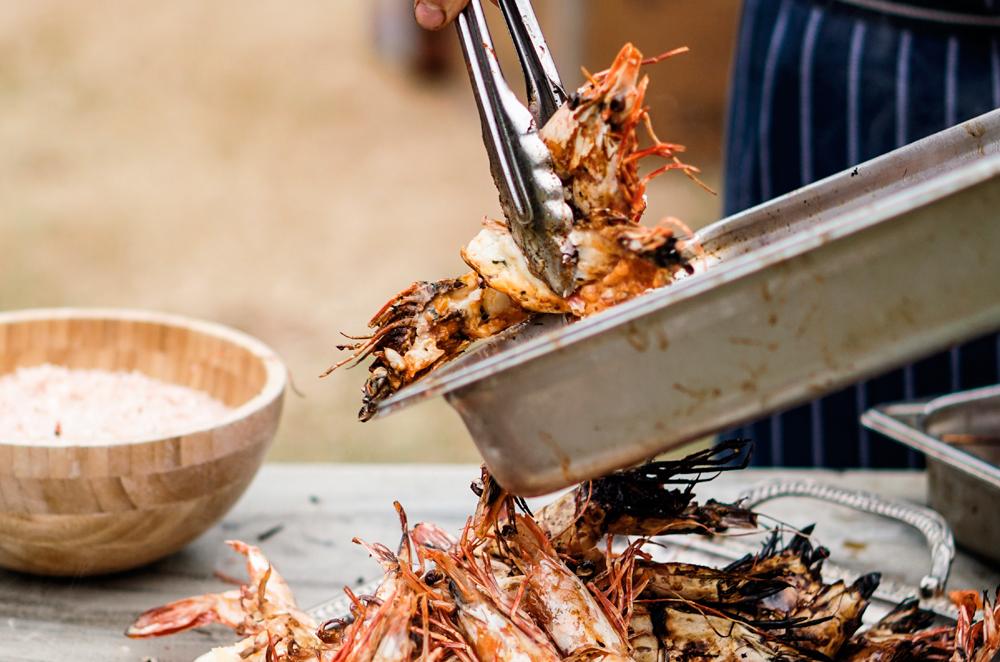 Seafood BBQ Picnic at Amber Kampot